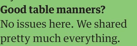 joe table manners