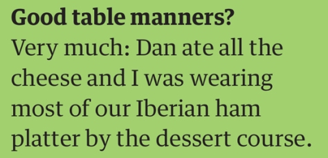 rob table manners