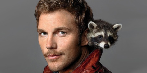 Star-Lord-Chris-Pratt-With-Real-Raccoon-Guardians-of-the-Galaxy